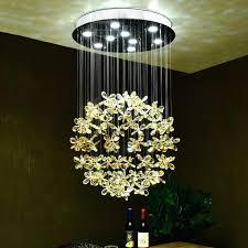 modern led amber crystal flower pendant ceiling chandelier lamp lighting light shade