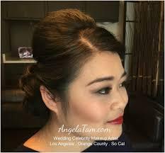 los angeles beautiful wedding bride makeup artist and