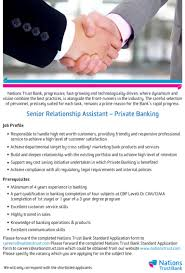 Senior Relationship Assistant - Private Banking