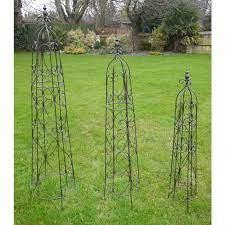 set of 3 charlotte garden obelisk