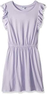 Splendid Big Girls Ruffle Tank Dress Purple Heart 10