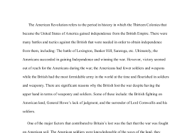 short essay on the american revolution  american revolution essays and papers 123helpme com