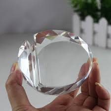 jqj crystal glass faceted card holder ball paperweight clear rare feng s office desk decoration business card holders craft in figurines miniatures