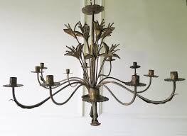 french early 20th c decorative tole chandelier circa 1910 picture 1