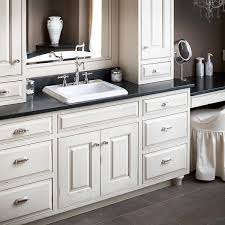black and white bathroom furniture. Furniture Extraordinary White Bathroom Vanity Black Granite Top With Semi Recessed Rectangular Basin And Polished Nickel T
