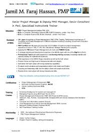 Pmp Certified Resume Sample Free Resume Example And Writing Download