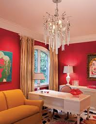 classy way to use red in the contemporary home office from american lighting association bunk bed home office energy