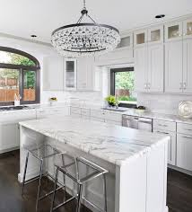 kitchen with robert abbey bling chandelier transitional designs 17
