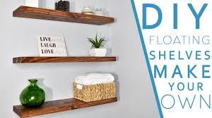 How To Make Floating Shelves With Lights Easy Diy Floating Shelves No Bracket Diy Creators