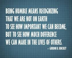 Images On Being Humble