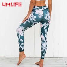 women fl printed yoga pants high waist fitness gym leggings workout sport tights yoga dance pants