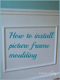 picture frame molding wall how to install moulding on walls adding the easiest wainscoting