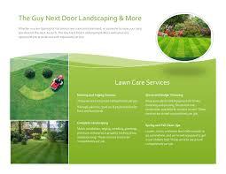the guy next door landscaping more llc lawn care calendar