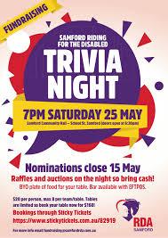 Samford Rda Trivia Night Fundraiser