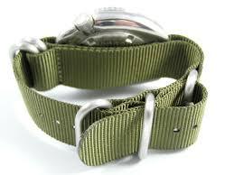 g10 zulu nato strap for seiko divers watch marinemaster monster black green 20mm