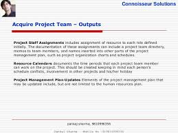 project human resource management pmbok   16 connoisseur solutions acquire project