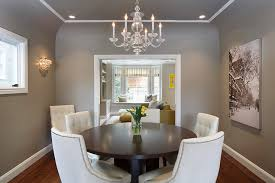 gray dining room ceiling