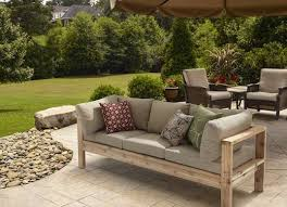 Can you believe this patio furniture design is DIY? Looks really easy to  build with