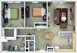 Charming 2 Bedroom Apartment Floor Plan