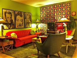 1970s interior design. Interesting Design 1970s Furniture Design Retro Living Room With Lime Green Walls And Bold  Red Accents  Inside Interior Design 1