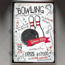Bowling Event Flyer Template Bowling Party Premium Flyer Template Market Free Event