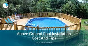 awesome cost of above ground pool with installation