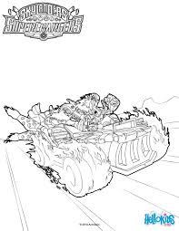 Hot Streak Coloring Page From Skylanders