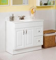 modest cute bathroom vanity no gap between vanity and floor
