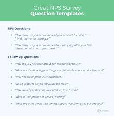12 Great Nps Survey Question And Response Templates