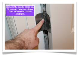 remove door from hinges. fix a door that closes \u0026 opens by itself-remove the middle hinge pin remove from hinges m