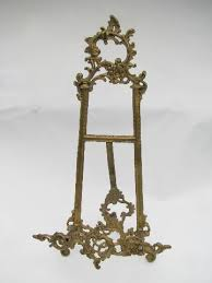 Painting Display Stands ornate brass easel sign stand menu card holder painting or 35