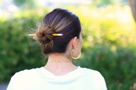 Chopstick Hairstyle 3 easy pencil bun ideas backtoschool hairstyles cute girls 8074 by wearticles.com