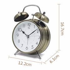txl bell alarm clock with large dial backlight battery operatedloud alarm clock advance smart