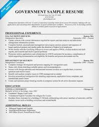 Collection of Solutions Sample Resume For Government Employee With Sample