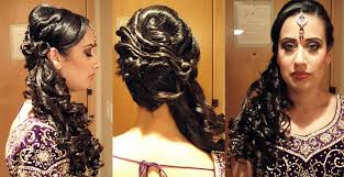 indian bridal hairstyle side ponytail