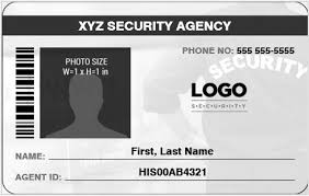 security guard badge template. Security GuardOfficer Photo ID Badges for MS Word Word Excel