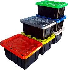 Heavy duty storage bins + tote bins | northern tool. Amazon Com Safari Usa 5 Gallon Heavy Duty Storage Bin Basket With Lids 6 Pack Made In The Usa 20 Quart 16 X12 X8 Storage Bin Plastic Box Storage Storage