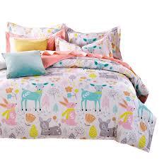 whole svetanya doona duvet cover pillowcases deer cartoon kids s bedding sets twin full queen king size 100 cotton