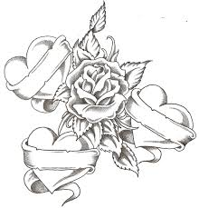 736x764 roses hearts coloring pages printable for funny draw of flowers