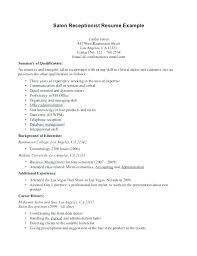 Sample Resume No Experience Adorable Sample Resume For Medical Receptionist With No Experience Front Desk