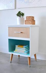 diy modern vintage furniture makeover. Mid Century Modern Nightstand Makeover | Painted Furniture Ideas Girlfriend Is Better Diy Vintage E