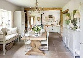white dining table shabby chic country. Shabby Chic Country With Antique Wooden Dining Table White