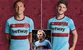 Shop now previous next featured products limited time offer special edition get the best price from our promotions program this month. West Ham Reveal New Retro Away Kit As Premier League Club Continue 125th Anniversary Celebrations Daily Mail Online