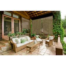Beautiful mediterranean patio designs that will replenish your energy Mediterranean Style This Review Is From96 In 96 In Walnut Cordless Horizontal Roller Shade Wikipedia Coolaroo Walnut Cordless Exterior Roller Shade 120 In 96 In
