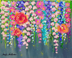 paintings with acrylics beautiful acrylic painting flowers painting ideas
