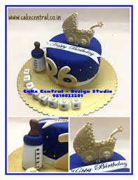Birthday Cake For Boyfriend Cute Golden Blue Designer Birthday Cakes