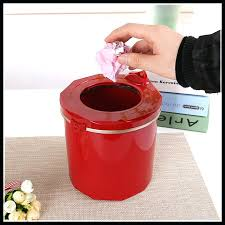 home improvement red trash cans friendly mini plastic desktop can waste bin garbage ashcan for
