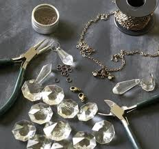 how to make a pendant necklace chandelier crystal necklace step 2
