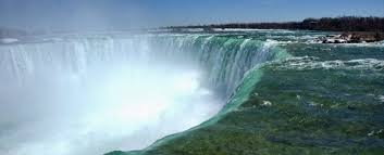where the water going over niagara falls es from
