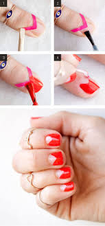 How To Paint a Negative Space Manicure With Tape - Easy Nail Art Ideas